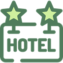 sign, hotel, Rest, Hostel, signs DimGray icon