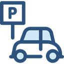 sign, vehicle, Parking, Automobile, signs DarkSlateBlue icon