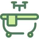 Clean, Bath, bathroom, washing, hygiene, Bathtub, Hygienic DimGray icon