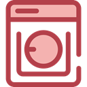Laundry, washer, washing machine, technology Sienna icon