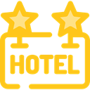 sign, hotel, Rest, Hostel, signs Gold icon