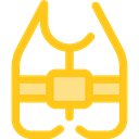 Floating, Lifesaver, security, help, lifeguard, lifebuoy Gold icon