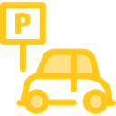 sign, vehicle, Parking, Automobile, signs Gold icon