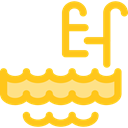 Ladder, Swimming Pool, Summertime, water Gold icon