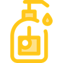 Shampoo, Bathing, Bath, bottles, soap, Bottle Gold icon