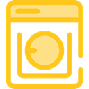 technology, Laundry, washer, washing machine Gold icon