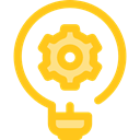 electricity, illumination, technology, invention, Seo And Web, Light bulb, Idea Gold icon