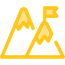 nature, landscape, Goal, mountain, mountains Gold icon