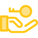 Key, password, security, Access, pass, Tools And Utensils, Door Key, Passkey Gold icon