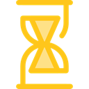 Clock, time, Hourglass, waiting, Tools And Utensils, Time And Date Gold icon