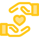Loyalty, Gestures, Hand Gesture, Seo And Web, Heart, love Gold icon