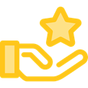 superior, Hand Gesture, Seo And Web, star, Premium, reward, Gestures Gold icon