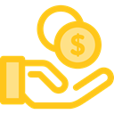 Seo And Web, Business, Money, commerce, Currency, investment, Bank, savings, Hand Gesture Gold icon