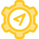 compass, Cursor, interface, navigation, Gps, technology, Tools And Utensils, Seo And Web Gold icon