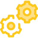 Gear, settings, configuration, cogwheel, Tools And Utensils, Seo And Web Gold icon