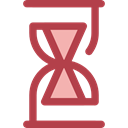 Clock, time, Hourglass, waiting, Tools And Utensils, Time And Date Sienna icon