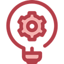 Light bulb, Idea, electricity, illumination, technology, invention, Seo And Web Sienna icon