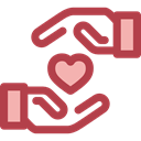 Gestures, Hand Gesture, Seo And Web, Heart, love, Loyalty Sienna icon