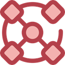 Connection, networking, Organization, Seo And Web Sienna icon