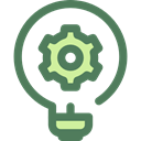 Light bulb, invention, Seo And Web, Idea, electricity, illumination, technology DimGray icon
