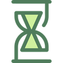 Clock, time, Hourglass, waiting, Tools And Utensils, Time And Date DimGray icon