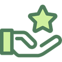 Premium, reward, Gestures, superior, star, Hand Gesture, Seo And Web DimGray icon