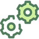 Gear, settings, configuration, cogwheel, Tools And Utensils, Seo And Web DimGray icon