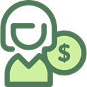 Avatar, Social, people, user, Money, profile DimGray icon