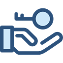 security, Access, pass, Key, password, Tools And Utensils, Door Key, Passkey DarkSlateBlue icon