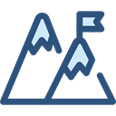 nature, landscape, Goal, mountain, mountains DarkSlateBlue icon