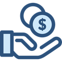 Business, Money, commerce, Currency, investment, Bank, savings, Hand Gesture, Seo And Web DarkSlateBlue icon