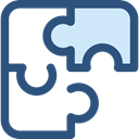 Puzzle, Toy, piece, Seo And Web, Game, shapes DarkSlateBlue icon