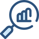 document, graph, Business, Stats, Bars, statistics, graphic, marketing, finances, Growing, Seo And Web DarkSlateBlue icon