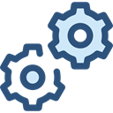 Gear, settings, configuration, cogwheel, Tools And Utensils, Seo And Web DarkSlateBlue icon