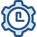 Clock, time, watch, settings, tool, Tools And Utensils, Time And Date DarkSlateBlue icon