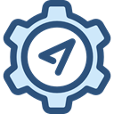 compass, Cursor, interface, Seo And Web, navigation, Gps, technology, Tools And Utensils DarkSlateBlue icon
