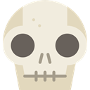 halloween, dangerous, signs, Anatomy, Poisonous, medical, Dead, skull Beige icon