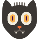 Black cat, Superstitious, Superstition, Cat, halloween, Animals DarkSlateGray icon