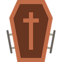 Box, cross, death, halloween, coffin SaddleBrown icon