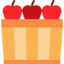 Apple, food, Fruit, organic, Apples, diet, vegetarian, vegan, Healthy Food, Food And Restaurant SandyBrown icon