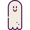 horror, Terror, spooky, scary, fear, Ghost, halloween Beige icon