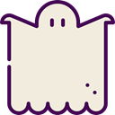 Ghost, halloween, horror, Terror, spooky, scary, fear Beige icon