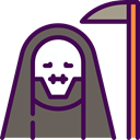 death, halloween, horror, Terror, spooky, scary, fear DimGray icon