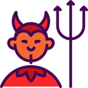 scary, fear, Avatar, Devil, halloween, horror, Terror, spooky Indigo icon
