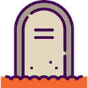 death, halloween, Stone, Cemetery, Rip, tomb, tombstone Wheat icon