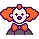 Avatar, halloween, horror, Clown, Terror, spooky, scary, fear Indigo icon