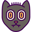 Black cat, Superstitious, Superstition, Cat, halloween, Animals DimGray icon