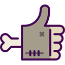 thumb up, halloween, Hands, Gestures, Finger, Like, Hands And Gestures RosyBrown icon
