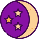 medical, Moon, night, sleep, nature, Rest, halloween, Sleeping, Health Care DarkMagenta icon