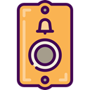 miscellaneous, notification, ui, Calling, ring, Tools And Utensils, Bell Ring SandyBrown icon